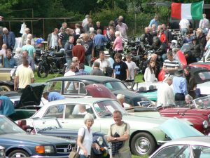 The car show in full swing